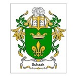 Schaak Coat of Arms Small Poster