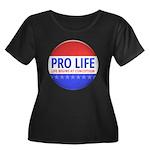 Pro Life Women's Plus Size Scoop Neck Dark T-Shirt
