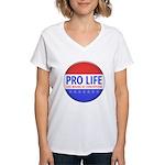 Pro Life Women's V-Neck T-Shirt