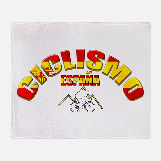 Spanish Cycling Throw Blanket