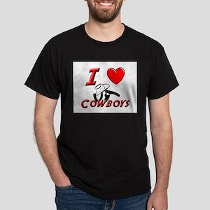 HOT COWBOYS Black T-Shirt