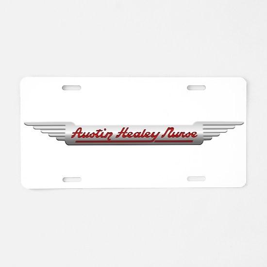 Healey Nurse Aluminum License Plate