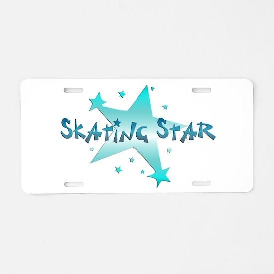 Skating Star Aluminum License Plate