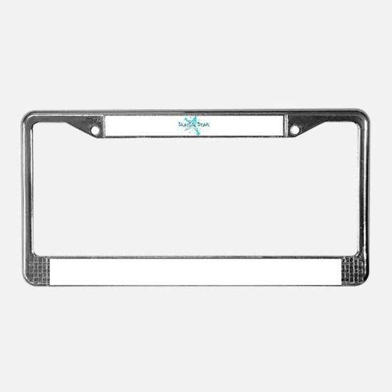 Skating Star License Plate Frame