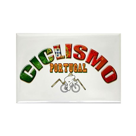 Portugal Cycling Rectangle Magnet (100 pack)