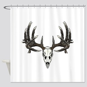Big whitetail buck Shower Curtain