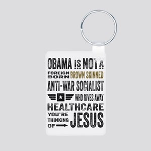 Obama Aluminum Photo Keychain