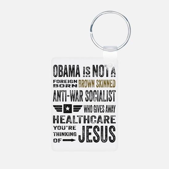 Obama Aluminum Photo Keychain