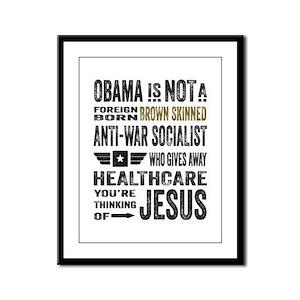 Obama Framed Panel Print