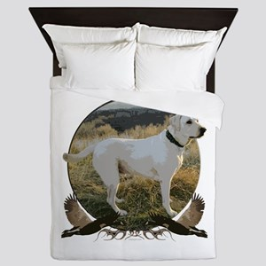 Yellow lab Queen Duvet