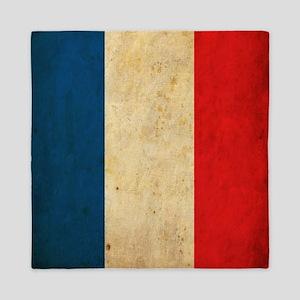 Vintage France Flag Queen Duvet