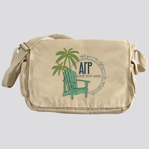 Alpha Gamma Rho Palm Chair Messenger Bag