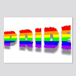 RAINBOW COLORED PRIDETEXT 6Postcards (Package of 8