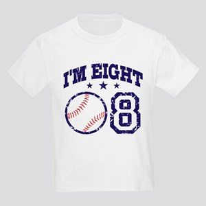 Eight Year Old Baseball Kids Light T-Shirt