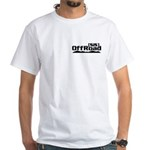 Rubber Side Down White T-Shirt