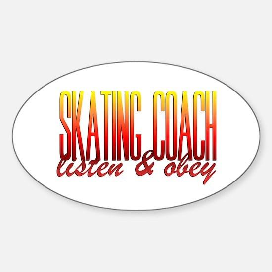 Coach design 3 Sticker (Oval)