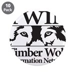 "Timber Wolf Information Netwo 3.5"" Button (10 pack"