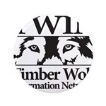 "Timber Wolf Information Netwo 3.5"" Button"