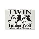 Timber Wolf Information Netwo Rectangle Magnet