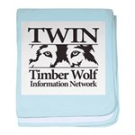 Timber Wolf Information Netwo baby blanket