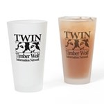 Timber Wolf Information Netwo Drinking Glass