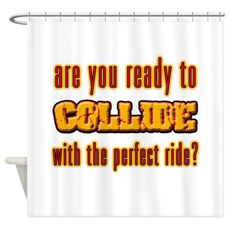 shower curtains with great catch phrases by sneables