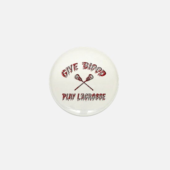 Give Blood Play Lacrosse Mini Button