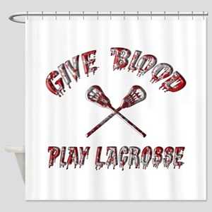 Give Blood Play Lacrosse Shower Curtain
