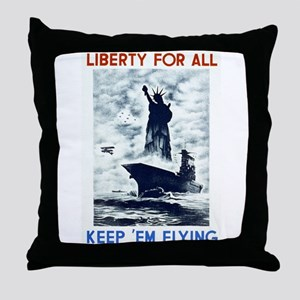 Liberty For All WPA Poster Throw Pillow