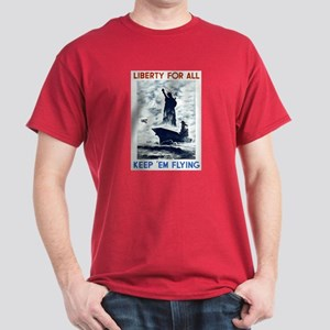 Liberty For All WPA Poster Dark T-Shirt