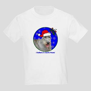 SANTA PAWS Irish Wolfhound Kids Light T-Shirt