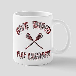 Give Blood Play Lacrosse Mug