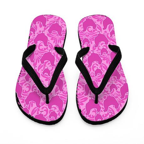 Pink Chicken Flip Flops