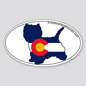 West Highland Terrier Colorado State Flag Sticker