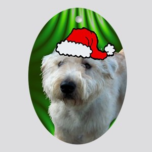 SANTA PAWS Glen Ornament (Oval)