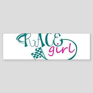 Race Girl Sticker (Bumper)