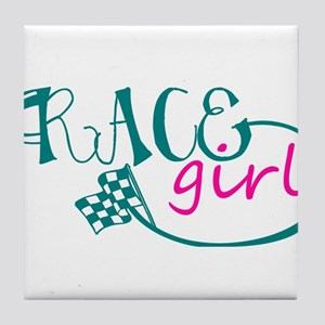 Race Girl Tile Coaster