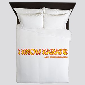 I know karate! Queen Duvet
