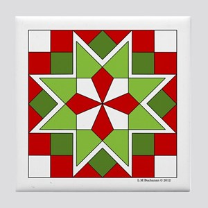 Plaid Star Tile Coaster