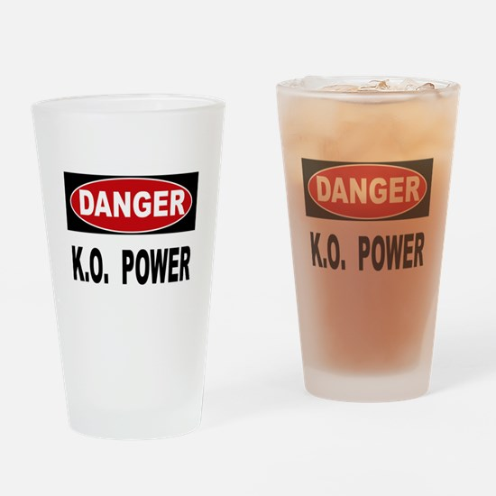 K.O. Power Drinking Glass