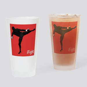 iFight (red) Drinking Glass