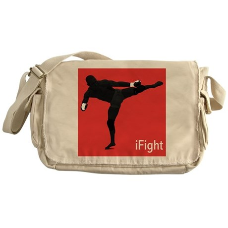 iFight (red) Messenger Bag