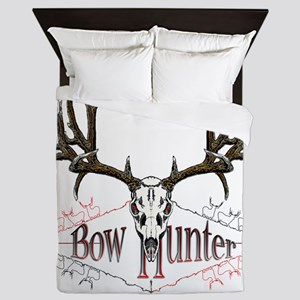 Bow hunting,deer skull Queen Duvet