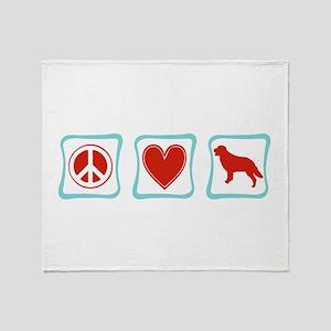 Peace, Love, Golden Retrievers Throw Blanket