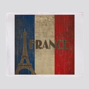 Vintage France Throw Blanket