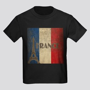Vintage France Kids Dark T-Shirt