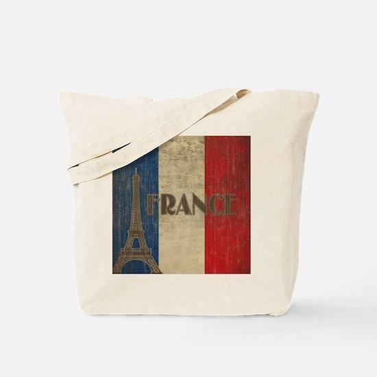 Vintage France Tote Bag