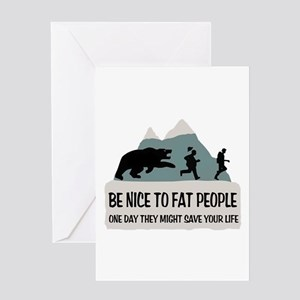 Fat People Greeting Card