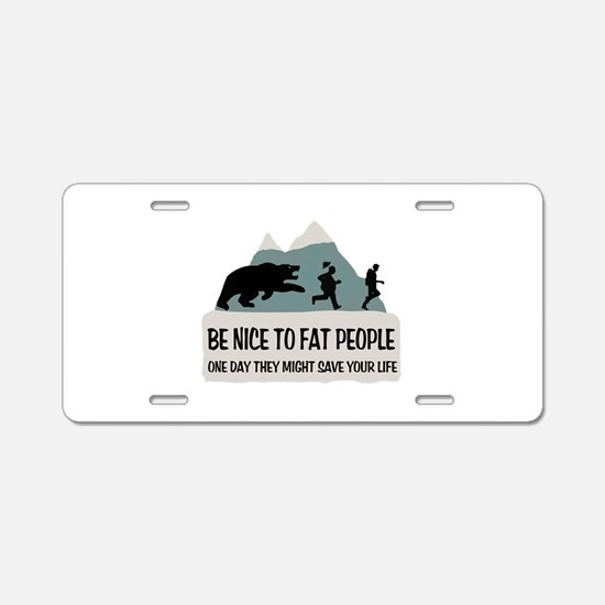 Fat People Aluminum License Plate