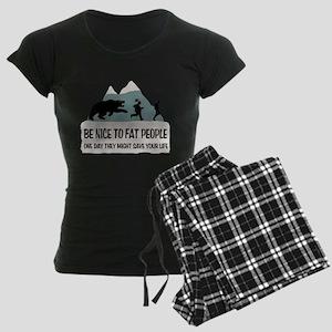 Fat People Women's Dark Pajamas